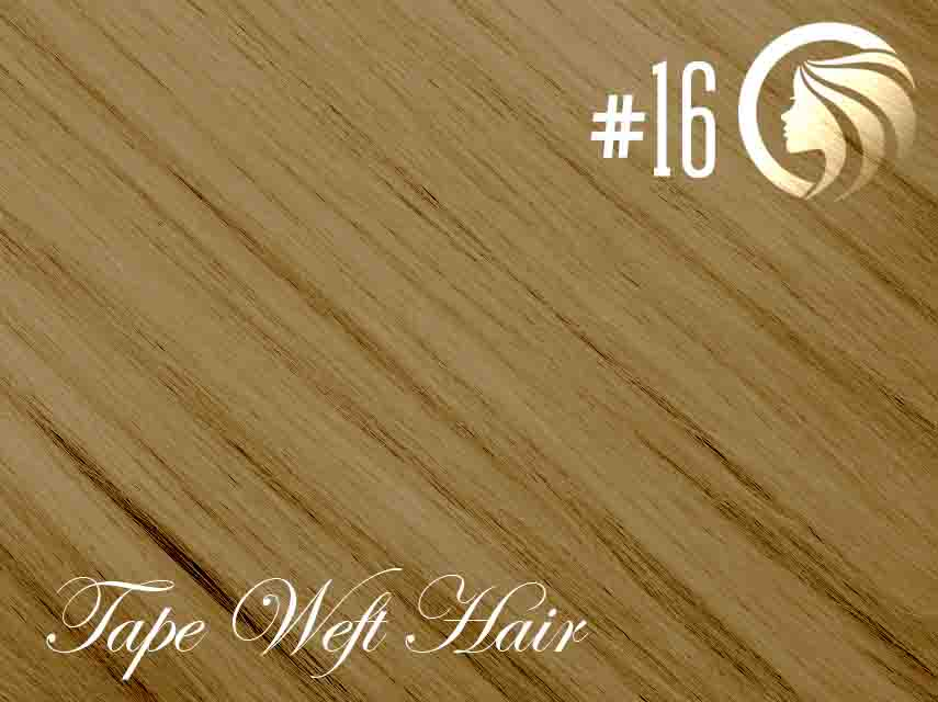 #16 Ash Blonde – 18″ – 60 gram – 24 Pieces – Athena Tape Hair